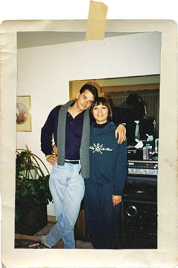Young Adult Matthew E. Wheeler with Mom old photo